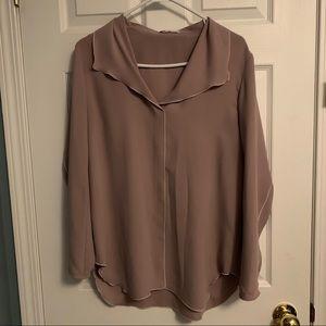 Babaton Rena blouse in light mauve
